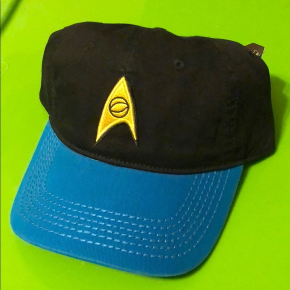 fcd54fc190 Star Trek Blue Black Baseball Cap das hat Trekkie